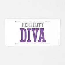 Fertility DIVA Aluminum License Plate