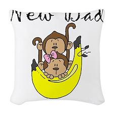 NEWDADOFTWINS.png Woven Throw Pillow