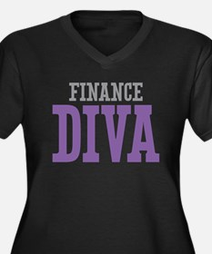 Finance DIVA Women's Plus Size V-Neck Dark T-Shirt
