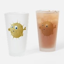 Cartoon Puffer Fish Drinking Glass