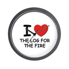 I love the log for the fire Wall Clock