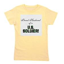 Funny Military husband Girl's Tee