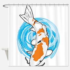 Cartoon Koi Shower Curtain