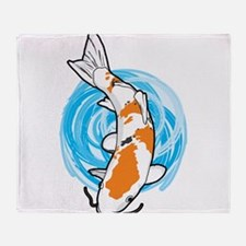 Cartoon Koi Throw Blanket