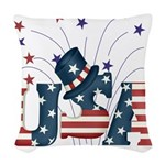 usaflagrwbtee.png Woven Throw Pillow