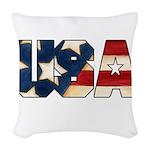USAFLAGSHIRT.png Woven Throw Pillow