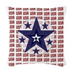 CLOCKPATRIOTIC.png Woven Throw Pillow
