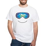Ski Mens White T-shirts