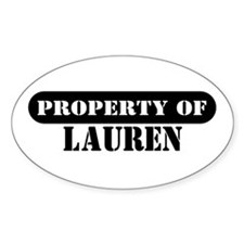 Property of Lauren Oval Decal