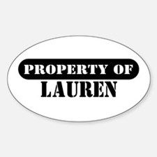 Property of Lauren Oval Decal