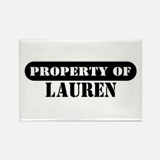 Property of Lauren Rectangle Magnet