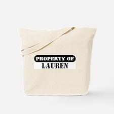 Property of Lauren Tote Bag