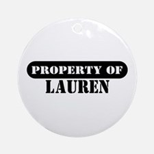 Property of Lauren Ornament (Round)