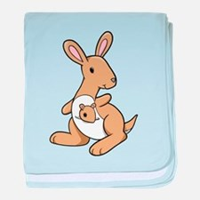 Kangaroo Family baby blanket