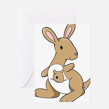 Kangaroo Family Greeting Card