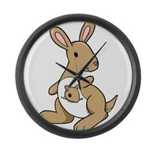 Kangaroo Family Large Wall Clock