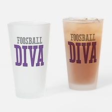 Foosball DIVA Drinking Glass