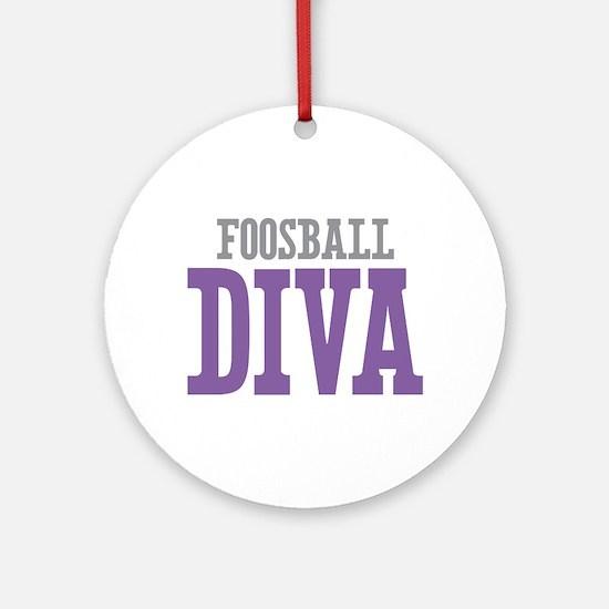 Foosball DIVA Ornament (Round)