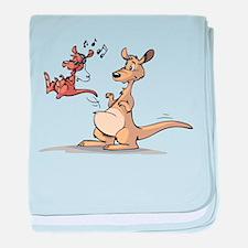 Musical Kangaroo baby blanket