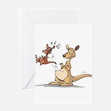 Musical Kangaroo Greeting Card