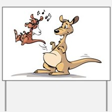 Musical Kangaroo Yard Sign