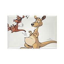 Musical Kangaroo Rectangle Magnet