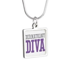 Dermatology DIVA Silver Square Necklace