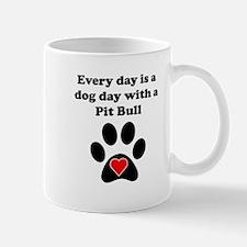 Pit Bull Dog Day Small Mug