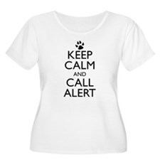 Keep Calm and Call Alert t-shirt Plus Size T-Shirt