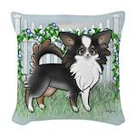 GF Chihuahua- Tri Long Standing Woven Throw Pillow