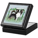 GF Chihuahua- Tri Long Standing Keepsake Box