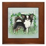 GF Chihuahua- Tri Long Standing Framed Tile