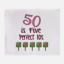 50 is Five Perfect TENS Throw Blanket