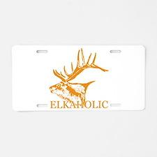 Elkaholic o Aluminum License Plate