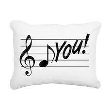 Music Note F You Rectangular Canvas Pillow