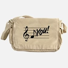 Music Note F You Messenger Bag
