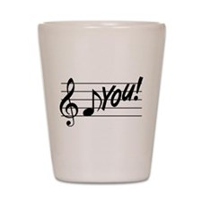 Music Note F You Shot Glass