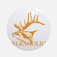 Elkaholic o Ornament (Round)