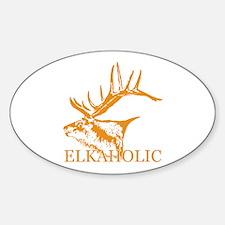 Elkaholic o Sticker (Oval)