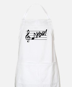 Music Note F You Apron