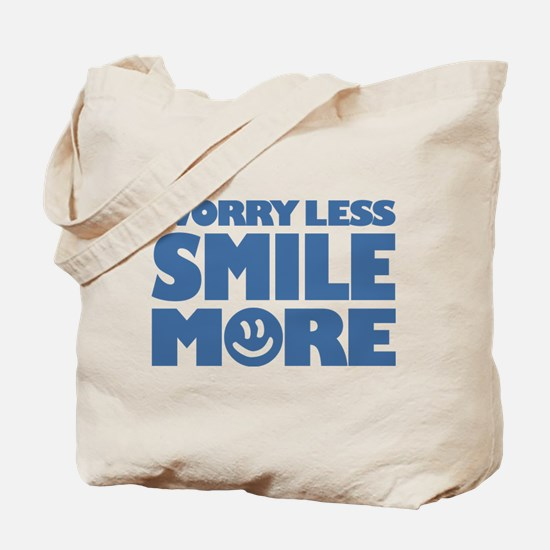Worry Less Smile More - Smiley Face Tote Bag