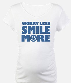Worry Less Smile More - Smiley Face Shirt