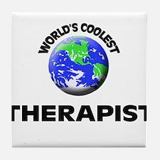 World's Coolest Therapist Tile Coaster