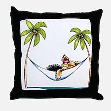 Yorkie Island Princess Throw Pillow