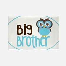 Big Brother Owl Rectangle Magnet