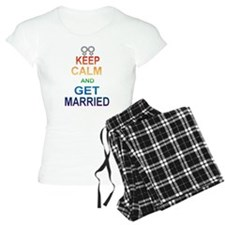 Keep Calm And Get Married Female Symbol. Pajamas