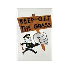 Keep off the Grass Rectangle Magnet