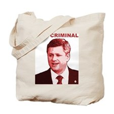Stephen Harper War Criminal Tote Bag