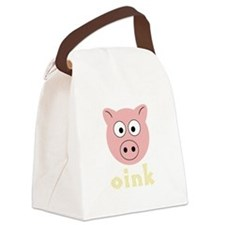 AnimalNoises_PigOink.png Canvas Lunch Bag