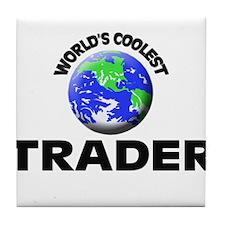 World's Coolest Trader Tile Coaster
